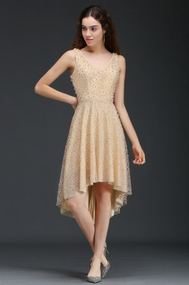 ANNABELLA | Quinceanera Hi-Lo Popular 15 Dama Dress With Pearls_3