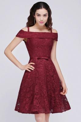 vestidos de fiesta de borgo_a | Una línea de espagueti correas de encaje corto_6
