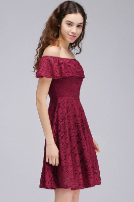 vestidos de fiesta de borgo_a | Una línea de encaje fuera del hombro de encaje_4