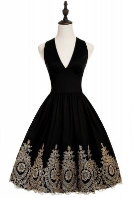 Simple vestidos de cóctel corte | cuello colgando burdeos_6