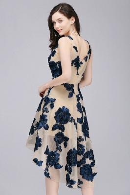 COCO | Short Appliques Tulle V Neck Quince Dama Dresses_7