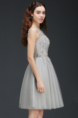 ANNA | Quinceanera Short Modern Dama Dress With Lace Appliques_8