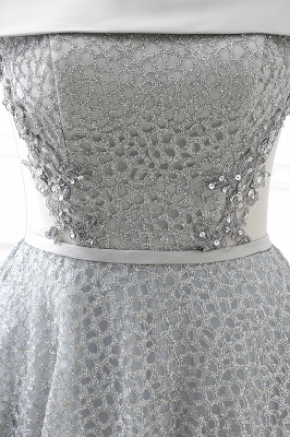 ANGELA | Quinceanera Short Sequins Lace up 15 Dama Dress With Beading_6
