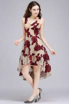 COCO | Short Appliques Tulle V Neck Quince Dama Dresses_1