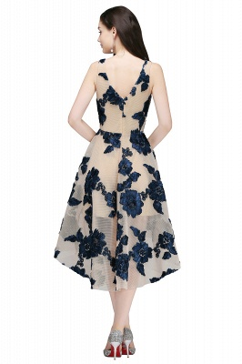 COCO | Short Appliques Tulle V Neck Quince Dama Dresses_4