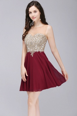 ALIANNA | Sheath Jewel Chiffon Short 15 Quince Dresses With Applique_8
