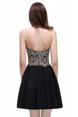 CAITLIN | Quinceanera Short Chiffon Black Dama Dresses with Appliques_7