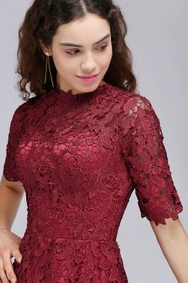 A-Linea Vestidos de Fiesta corte | Lace Borgo_a cuello redondo_7