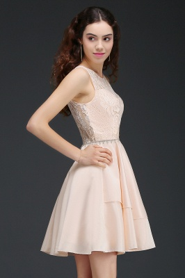 ANNABELLE | Quinceanera Short Cute 15 Dama Dress With Lace_5
