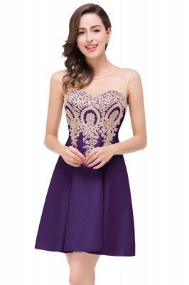 ESTHER | Quinceanera Sleeveless Chiffon Short Dama Dresses with Appliques_3
