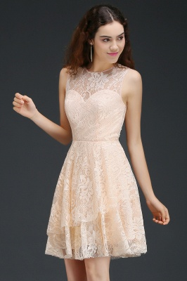 ANNABEL | Quinceanera Short Lace Quince Dama Dress_4