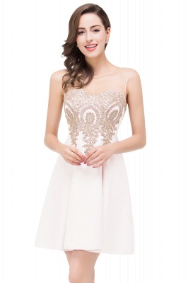 ESTHER | Quinceanera Sleeveless Chiffon Short Dama Dresses with Appliques_1