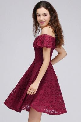 vestidos de fiesta de borgo_a | Una línea de encaje fuera del hombro de encaje_6