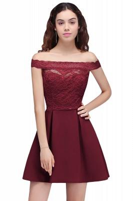 BROOKLYN | Quinceanera Off-the-shoulder Short Lace Burgundy Dama Dresses_2