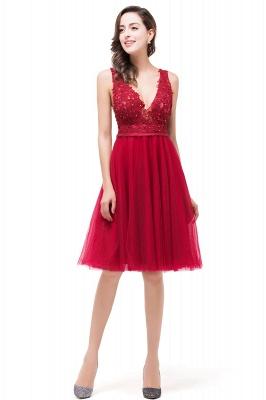 EVIE | Quinceanera Deep-V Neck Sleeveless Short Dama Dresses with Appliques_6