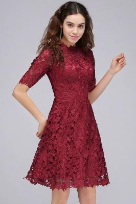 A-Linea Vestidos de Fiesta corte | Lace Borgo_a cuello redondo_6