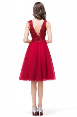 EVIE | Quinceanera Deep-V Neck Sleeveless Short Dama Dresses with Appliques_3