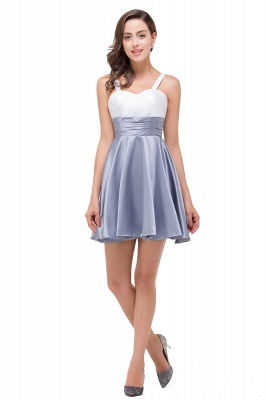 EVANGELINE | Quinceanera Sleeveless Sweetheart Short Chiffon Dama Dresses_6