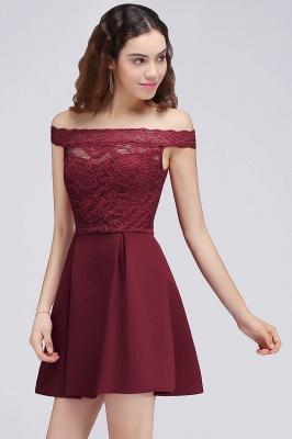 BROOKLYN | Quinceanera Off-the-shoulder Short Lace Burgundy Dama Dresses_4