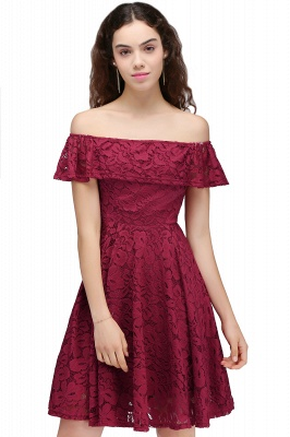 BRIAR | Quinceanera Off-the-shoulder Lace Burgundy Dama Dresses_1