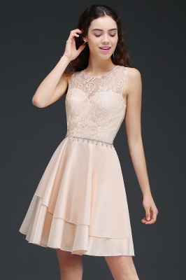 ANNABELLE | Quinceanera Short Cute 15 Dama Dress With Lace_6
