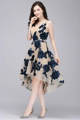 COCO | Short Appliques Tulle V Neck Quince Dama Dresses_5