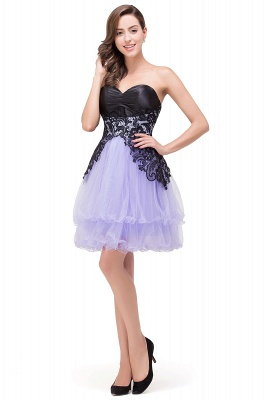 EVALYN | Quinceanera Sweetheart Short Dama Dresses with Bowknot-Sash_8