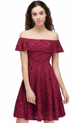 vestidos de fiesta de borgo_a | Una línea de encaje fuera del hombro de encaje_2