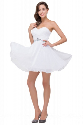 EMILEE | Quinceanera Sweetheart Short Dama Dresses with Beadings_6