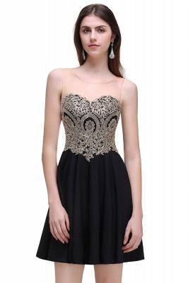CAITLIN | Quinceanera Short Chiffon Black Dama Dresses with Appliques_6
