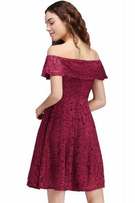 vestidos de fiesta de borgo_a | Una línea de encaje fuera del hombro de encaje_3