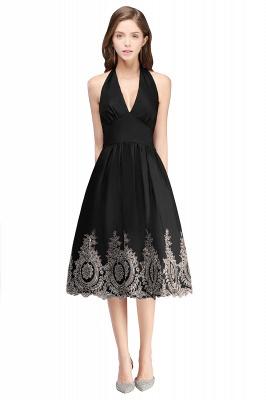 Simple vestidos de cóctel corte | cuello colgando burdeos_5
