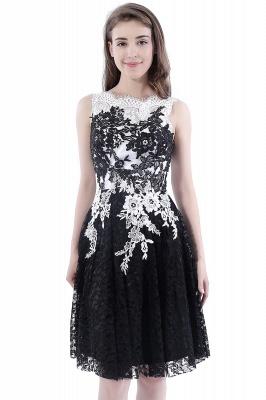 Vestidos de baile Cuello redondo | negros de encaje en general_8