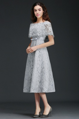 ALEXIS | A Line Off Shoulder Tea-Length Lace 15 Dama Dresses With Sash_2