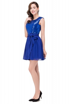 EMERSYN | Quinceanera Sleeveless Sequins Chiffon Short Dama Dresses_4