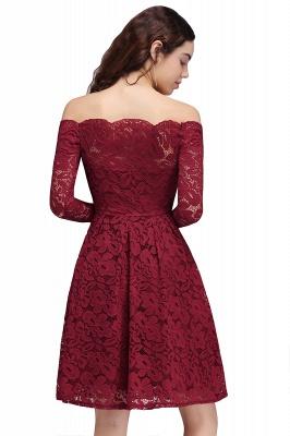 Una línea fuera del hombro vestidos de fiesta | corto encaje Borgo_a_3