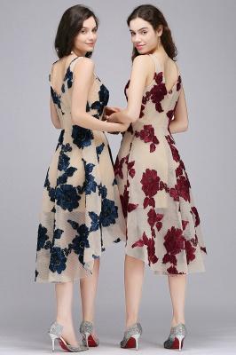 COCO | Short Appliques Tulle V Neck Quince Dama Dresses_9