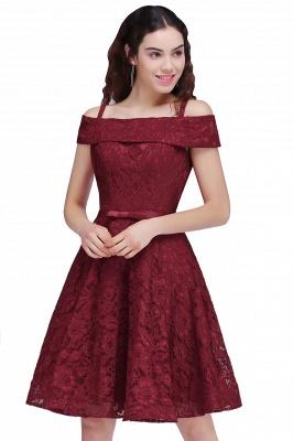 vestidos de fiesta de borgo_a | Una línea de espagueti correas de encaje corto_1