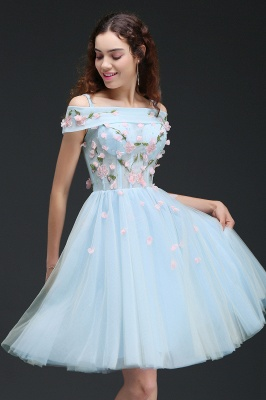 ANGELINE | Quinceanera Short Cute Quince Dama Dress Flowers_6