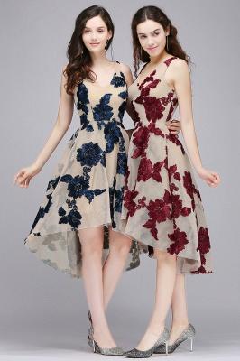 COCO | Short Appliques Tulle V Neck Quince Dama Dresses_8