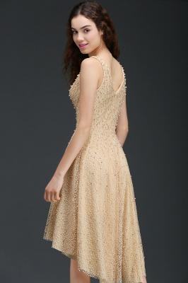 ANNABELLA | Quinceanera Hi-Lo Popular 15 Dama Dress With Pearls_5