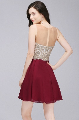 ALIANNA | Sheath Jewel Chiffon Short 15 Quince Dresses With Applique_5
