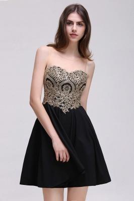 CAITLIN | Quinceanera Short Chiffon Black Dama Dresses with Appliques_9