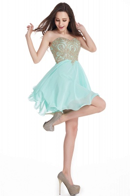 CYNTHIA | Quinceanera Strapless Short Chiffon Dama Dresses with Beadings_13