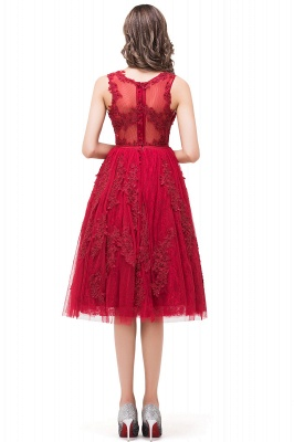DANA | Quinceanera Knee-Length Red Lace Tull Dama Dresses with sequins_3
