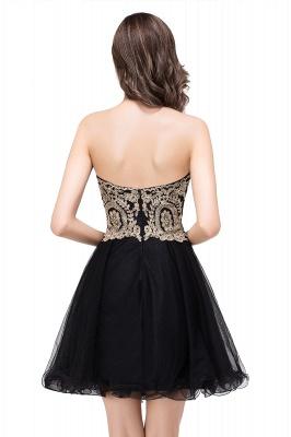 Una línea de encaje vestidos de baile | con apliques cari_o corto_8
