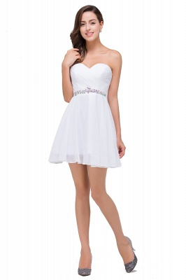 EMILEE | Quinceanera Sweetheart Short Dama Dresses with Beadings_4