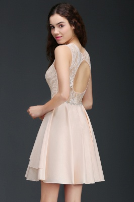 ANNABELLE | Quinceanera Short Cute 15 Dama Dress With Lace_4
