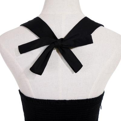 Simple vestidos de cóctel corte | cuello colgando burdeos_10