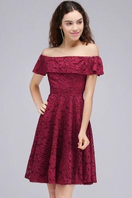 vestidos de fiesta de borgo_a | Una línea de encaje fuera del hombro de encaje_5